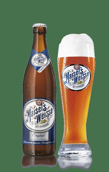 Birra e bicchiere Maisel's Weisse