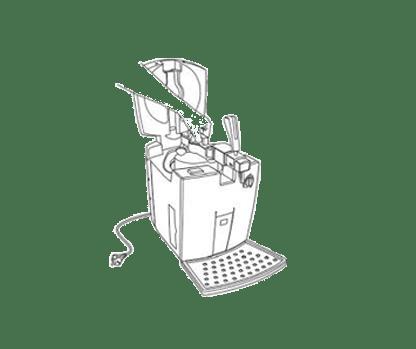 Disegno spillatrice di birra